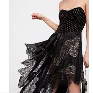 Free People Dark Fairy strapless midi dress
